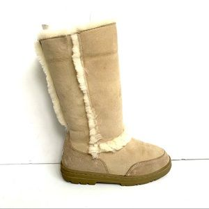 UGG GENUINE SHEARLING SUEDE TALL CLASSIC BOOT